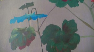 website Close-up with blue leaf of Garden #1