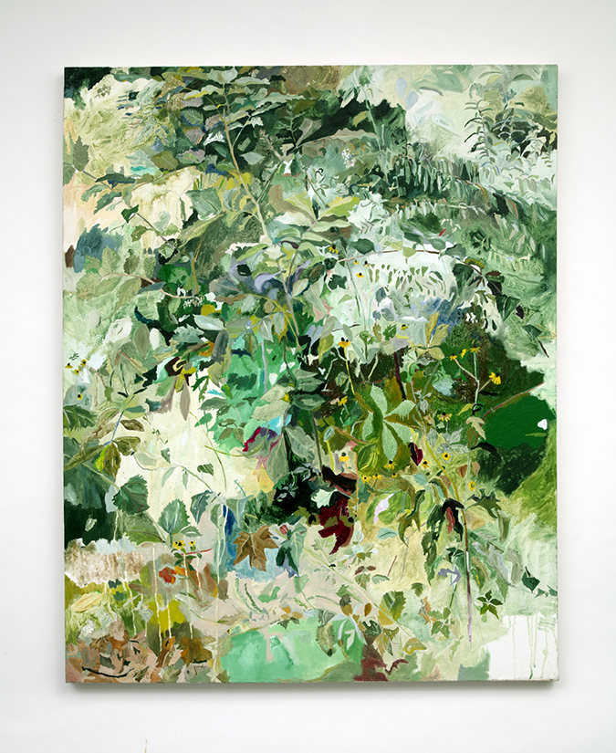 Landscape Recording Static/Dynamic: Central Park, The Ramble I, New York,  New York, oil on canvas, 48 x 60 in, ...